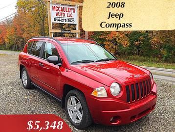 2008 Jeep Compass Mileage: 172,320. Transmission: Automatic Inspection:  5/16. VIN: 1J8FF47W68D591152